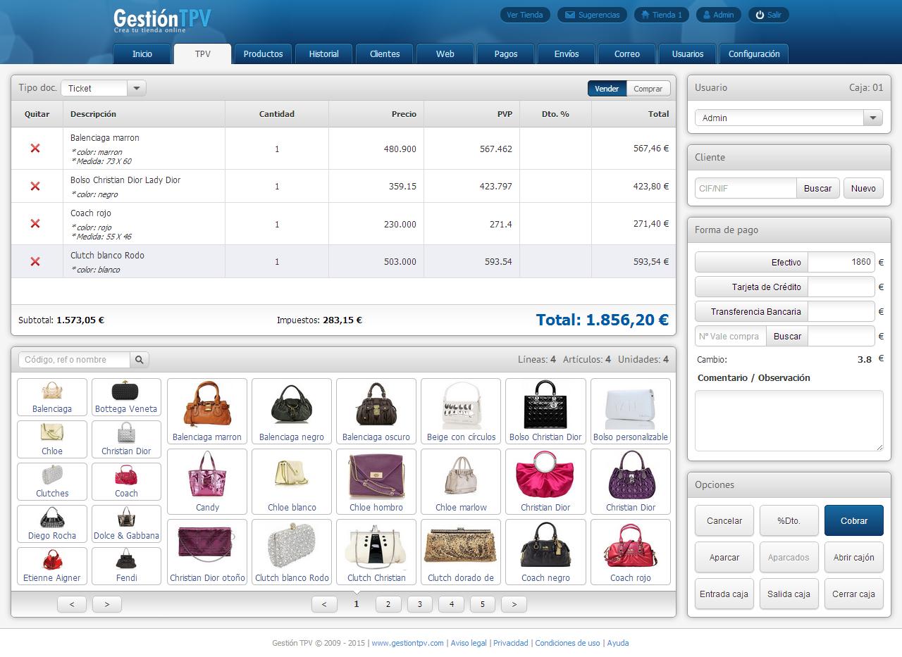 gestion de tiendas gratis: